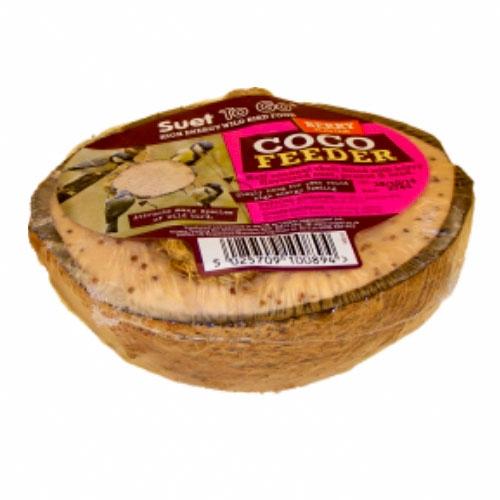 Coconut Bird Feeder - Suet with Berries