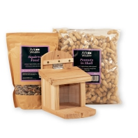 Squirrel Feeder & Food Pack