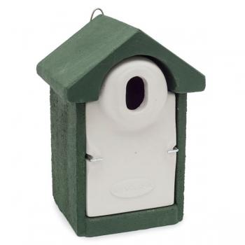 Woodstone Seville Nest Box Oval Hole Green