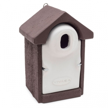 Woodstone Seville Nest Box Oval Hole Brown