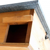 Hedgehog House with Hinged Inspection Roof